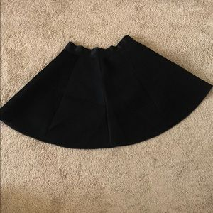 Express Black High-Waisted Skater Skirt